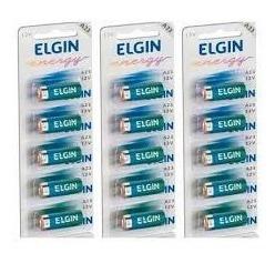 Kit 15 Bateria Alcalina A27 12v Elgin (3 Blister C/5 Un)