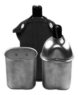 Cantil Militar De Alumínio Com Caneca Capa 900ml - Echolife