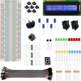 Display Protoboard Com Componentes Eletronicos Buzzer