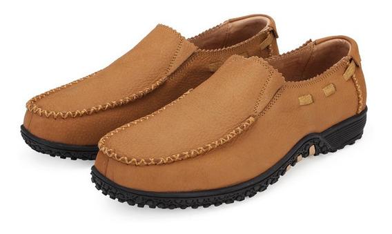 Tamanho Grande Homens Sapatos De Couro Genuíno Deslizamento