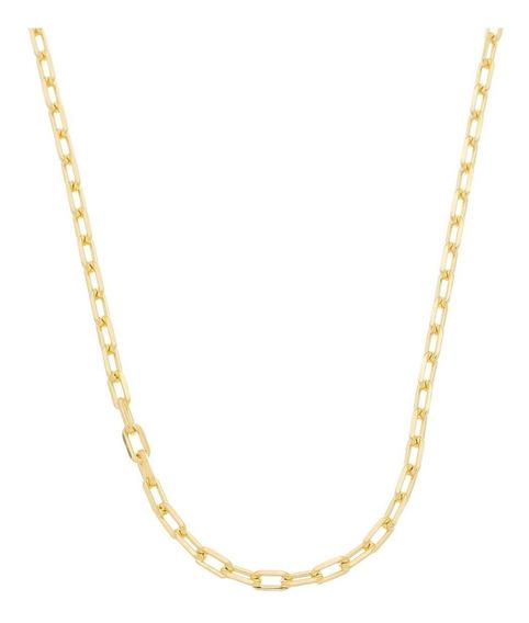 Cordão Corrente Masculina Cordão 50cm 3,5mm Folheada Ouro