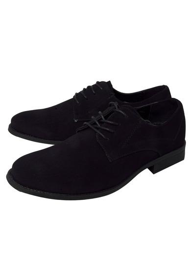 Sapato Masculino Oxford Nobuk Liso Preto Promoção