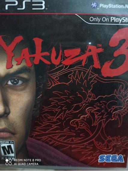 Yakuza 3 Ps3 Original , Mídia Física + Manual