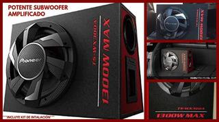 Potentes Subwoofers Amplificados Pioneer 1300w Nuevo