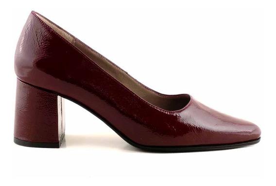 Zapato Mujer Cuero Briganti Vestir Taco Negro - Mccz03120