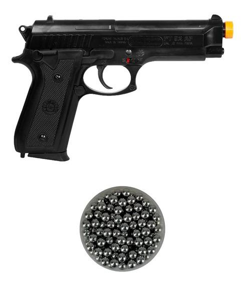 Pistola Airsoft Spring Taurus Pt92 + Esferas De Alumínio