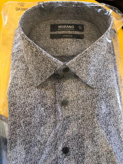 Camisa Narca Murano Talla M Plateada Corte Slim