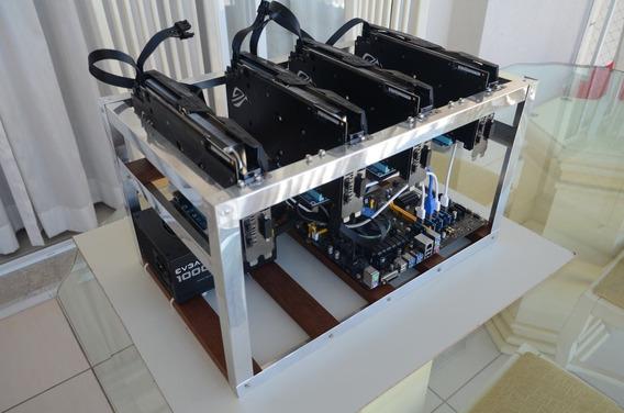 Rig De Mineração Com 4 Rx 580 Radeon 8 Gb