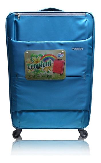 Maleta Grande Suave Tropical American Tourister De 30¨ Azul
