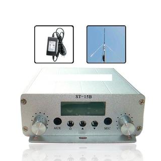 Kit Transmisor Fm Stereo 15watt +antena+cable   Envió Gratis