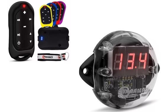 Controle Longa Distância Taramps Tlc 3000 + Mini Voltímetro