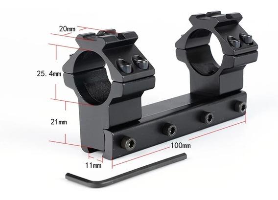 Montura Monopieza Tubo 1pulg Riel 11mm Tactica