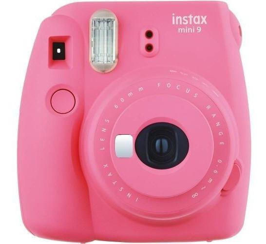 Câmera Instax Mini 9 Instantanea Rosa Fujifilm Original