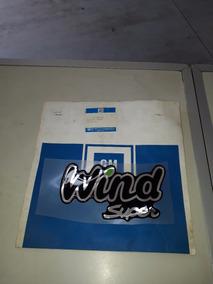 Emblema Adesivo Wind Super Para Corsa Resinado Mod Cromado
