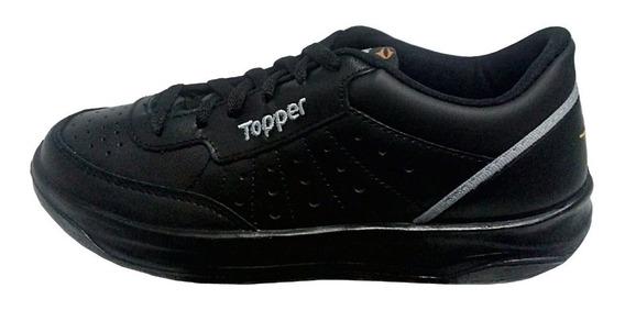 Topper X Forcer Tenis Colegial Cuero Vacuno Talles 35 Al 44