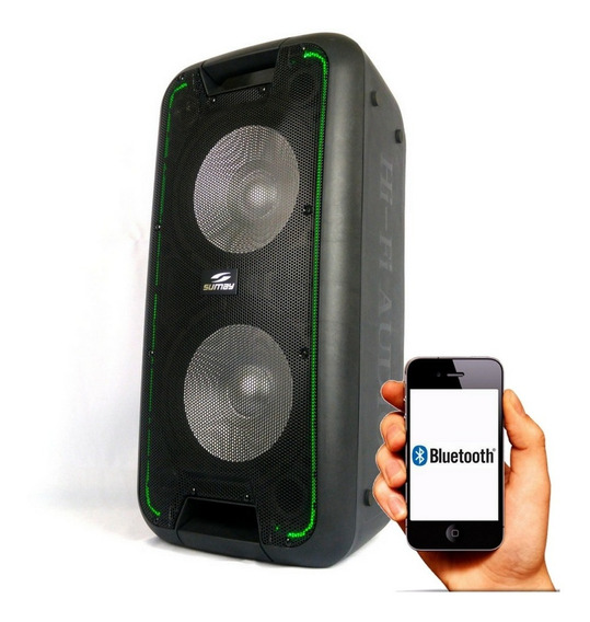 Caixa De Som Amplificada Sumay 6000w Bluetooth Multiuso
