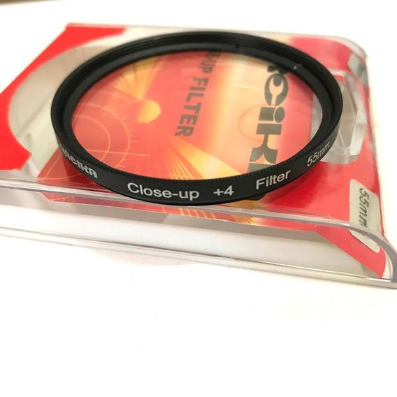Filtro Close Up 55mm +4 Greika Close Up Fotgrafia Macro
