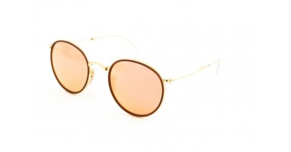 Óculos De Sol Ray Ban Round Dobrável Rb3517 001/z2 Metal