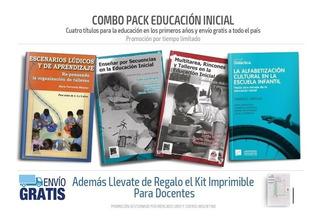 Combo Educación Inicial 4 Libros Envío Gratis + Regalo (pu)