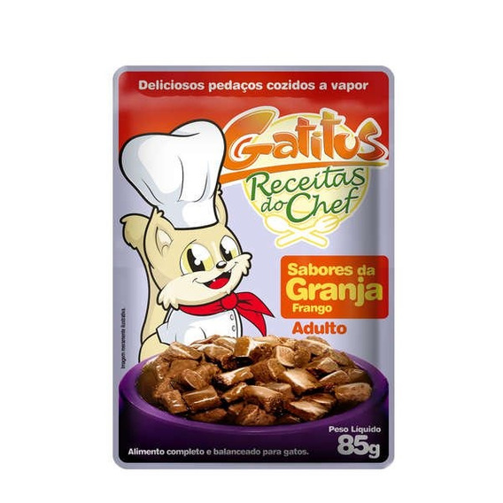 Alimento Úmido Gatitus Sabores Da Granja Para Gatos - 85 G