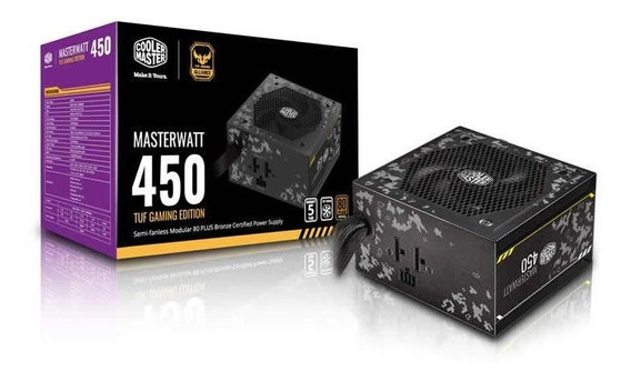 Fonte Atx Masterwatt 450w 80 Plus Bronze Tuf Cooler Master