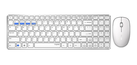 Rapoo 9300m Silencioso Multi-mode Wireless Keyboard Set Mous