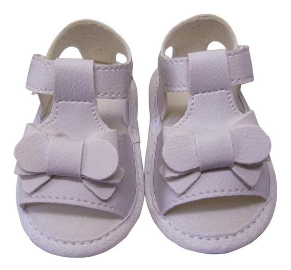 Sandália Infantil Feminina Branca Promoção Para O Bebê