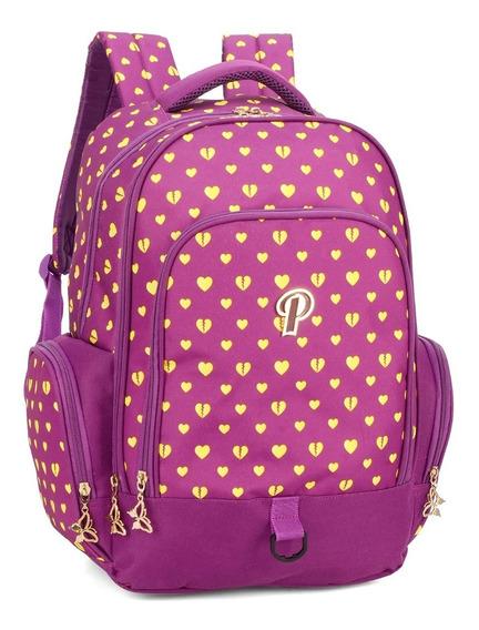Mochila Princess Com Porta Laptop Original Mj48718ps-rx Gran