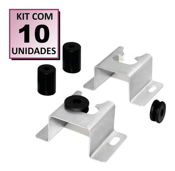 Kit 10 Suportes P/ Tv Fixo Parede Painel Universal 32 A 71