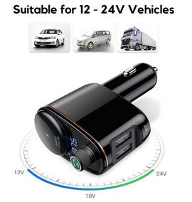 Carregador Veicular Baseus Duplo Bluetooth Fm Transmissor