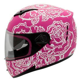 Capacete Moto Feminino Peels Icon Sweet Rosa Branco
