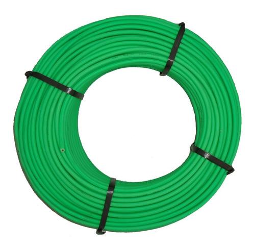 Imagen 1 de 1 de Cable Microfono 6mm Mono Fluo Verde X 10 Mts