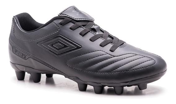 Chuteira Umbro Futebol Campo Attack Il Black Edition