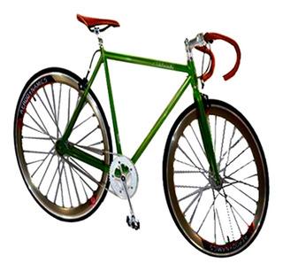 Bicicleta Rodada 700c Fixie Manubrio Carreras Verde Kinley