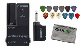 Boss Wl-50 Guitarra Pedalera Inhalámbrico Sistema Bundle C ®