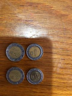Monedas De 2 Nuevos Pesos Y 1 Nuevo Peso