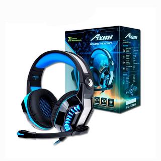 Audifonos Antryx Axini Gaming Negro C/ Plata+azul Led- Azul