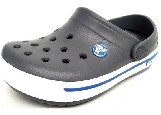Original Crocs Kids Crocband 2.5 Retro Luck Clog Gris Azul