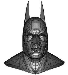 Planos Casco Batman Papercraft + Pepakura
