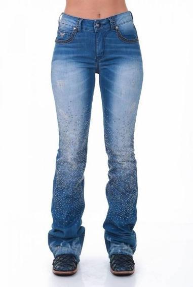 Calça Jeans Feminina Zenz Western Nice Tam 46