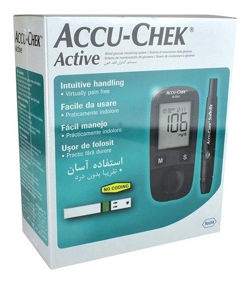 Oferta Accu Chek Active: Kit Glucómetro+ Tiras Active 50 Pz