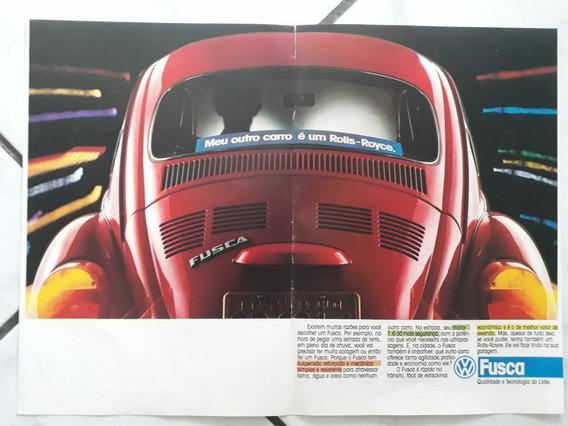 Propaganda Antiga Vw Fusca 1.6 Anúncio Publicidade Coleção