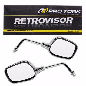 Retrovisor Moto Esportivo Pro Tork Oval Universal Honda (par