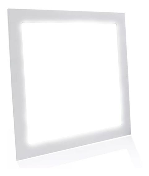 Painel Plafon Led 25w Quadrado Embutir Branco Frio Luminária