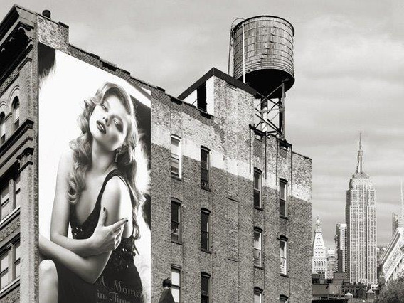 Billboards In Manhattan #1 - Lamina De 70 X 50 Cm
