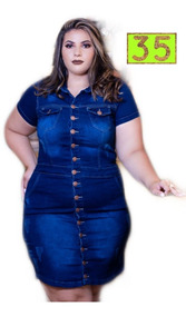 Roupas Femininas Vestido Plus Size Elastano Promoção Unid