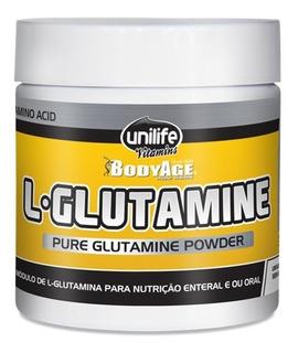 L Glutamina Em Pó 100% Pura 300g - Aminoácido Anticatabólico