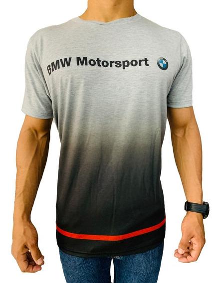Remera Bmw Motorsport Degrade Gris Sublimada