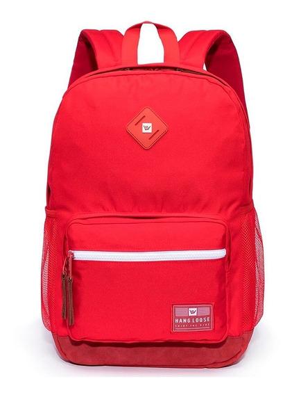 Mochila Hang Loose Vermelho Grande Escolar - 1352