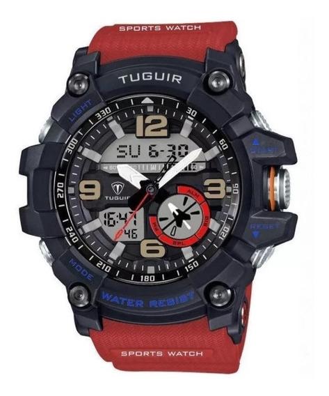 Relógio Tuguir 6009 Militar Na Caixa De Lata Original Com Nf